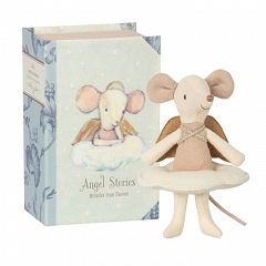 MAILEG Myszka - Angel mouse, big sister in book