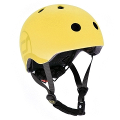 SCOOTANDRIDE Kask regulowany S-M 3l+ Lemon Icecream