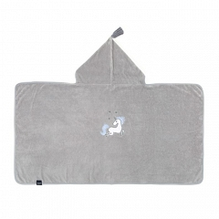 LA MILLOU Ręcznik bambusowy M Bamboo Soft Kid Unicorn Rainbow Knight Grey