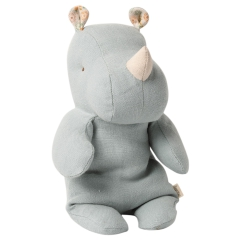 Maileg Maskotka - Safari friends, Small Rhino - Blue/Grey