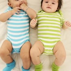 Juddlies Body Blue Stripe 6-12m