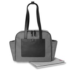 Skip Hop Torba Madison Square Mini Grid Black White