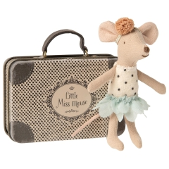 Maileg Myszka w walizce - Little Miss Mouse in suitcase, Little sister