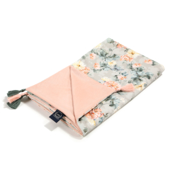 La Millou Velvet Collection Kocyk Light średniaka Blooming Boutique - Powder Pink