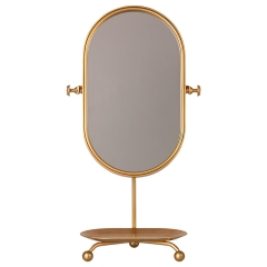 MAILEG Akcesoria dla lalek Lustro - Table mirror - Gold