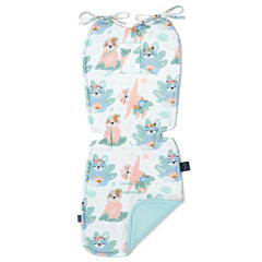 LA MILLOU Velvet Collection Thick Stroller Pad Yoga Candy Sloth Audrey Mint