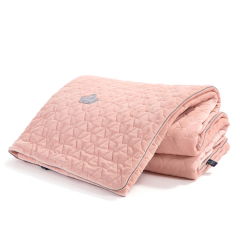 LA MILLOU Koc narzuta VELVET Collection 160x200cm POWDER PINK
