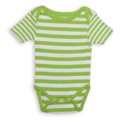 Juddlies Body Greenery Stripe 0-3m